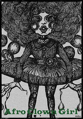 Afro Clown Girl Art Print