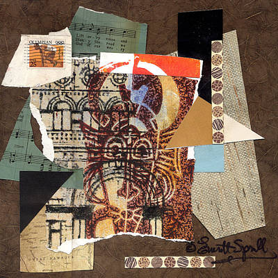 Afro Collage B Print by Everett Spruill