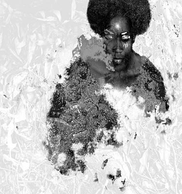 Afro Rock Art Print