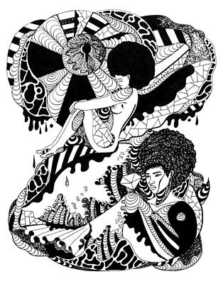 Afro American Art Drawing - Afrocentric Escape by Kenal Louis