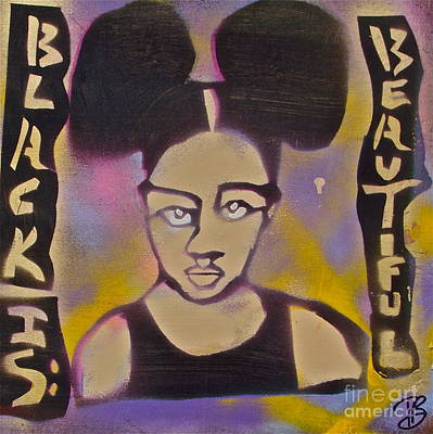 Negro Painting - Afropuffs 1 by Tony B Conscious