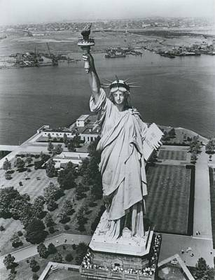 After 100 Years Statue Of Liberty In Need Of Restoration Print by Retro Images Archive