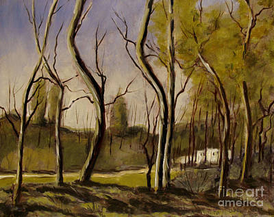 Tonalist Painting - After A Corot Retouch by Charlie Spear