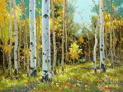 Rocky Mountain National Park Painting - After A Rain Shower by Gary Kim