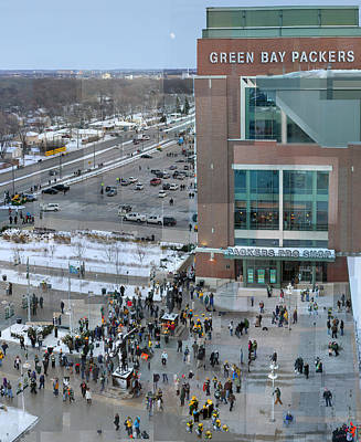 Sports Royalty-Free and Rights-Managed Images - After a Winter Packers Game by Stephen Farley