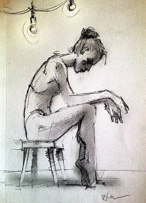 Ballerina Drawing - After by H James Hoff