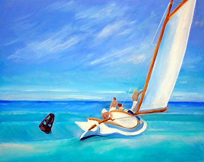 After Hopper- Sailing Art Print