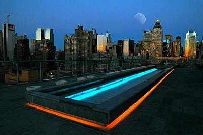 Rooftop View In New York Photograph - After Its Gone by Diana Angstadt
