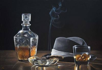 Ashtray Painting - After Hours II by Lianne Anderson