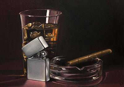 Ashtray Painting - After Hours IIi by Lianne Anderson