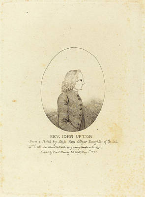 Upton Drawing - After Jane Collyer, Reverend John Upton, Published 1794 by Quint Lox