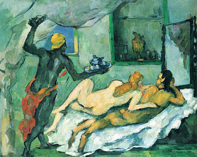 Ceramic Art - After Lunch In Naples By Cezanne by John Peter