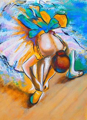 After Master Degas Ballerina Tying Her Shoe Art Print by Susi Franco