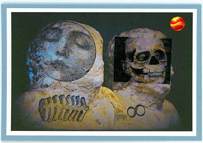 Rubber Stamps Mixed Media - After Midnight by Stan Askew