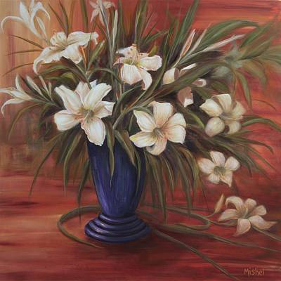 Painting - After Noon Lilies by Mishel Vanderten