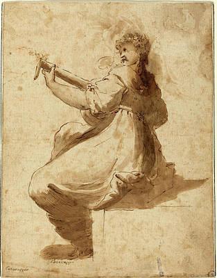 After Orazio Gentileschi, The Lute Player Art Print