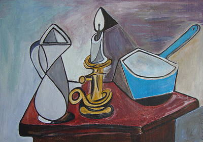 Painting - After Picasso Still Life With Casserole by Veronica Rickard