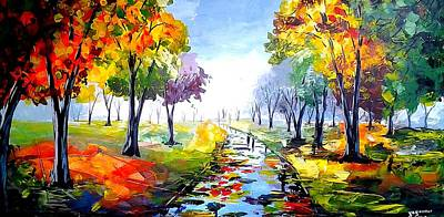 Pallet Knife Painting - After Rain by Evans Yegon