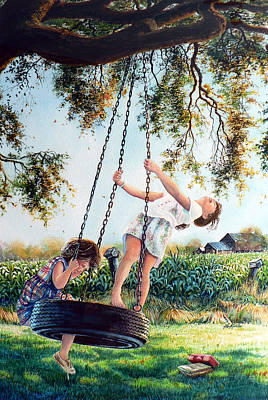 Swing Painting - After School by Hanne Lore Koehler