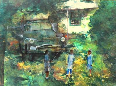 Painting - After School by Ron Carson