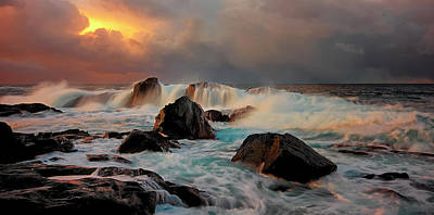 Norway Wall Art - Photograph - After Storm Wave by Bj??rn A Hveding