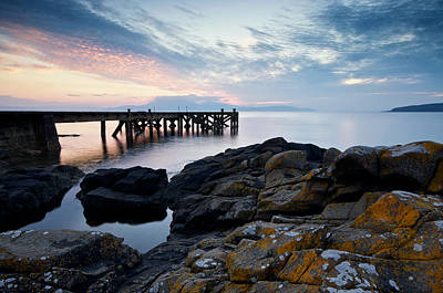 Photograph - After Sun At Portencross by Stephen Taylor