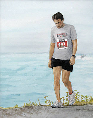 Sports Painting - After Ten Hours by Tanya Petruk