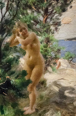 Boudoir Digital Art - After The Bath by Anders Zorn