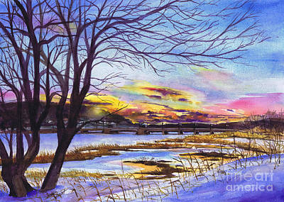 Painting - After The Blizzard Bayville by Susan Herbst