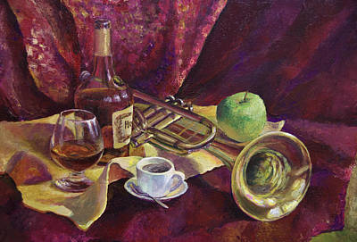 Cognac Painting - After The Concert by Andriy Kravchenko