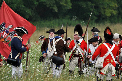 Revolutionary Wars Re-enactment Photograph - After The Guns Have Silenced by William Coffey
