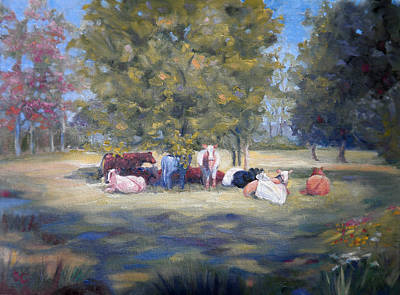 Painting - After The Milking by Sharon Casavant