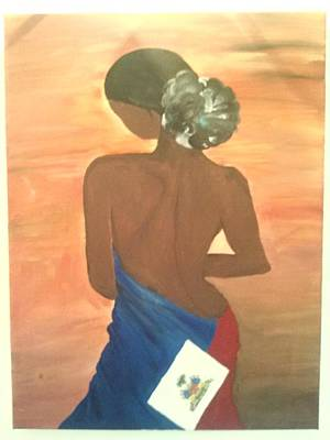 Haitian Painting - after the Quake by Yasmine McNear