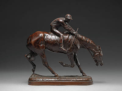 Sporting Goods Drawing - After The Race Incised On Top Of Base, Proper Left J by Litz Collection