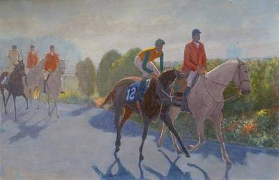 Painting - After The Race by Terry Perham