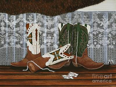 After The Rodeo Dance Art Print