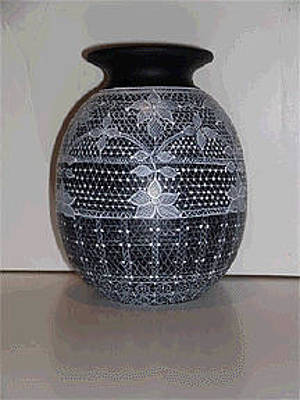 Ceramic Art - After The Rodeo Dance Vase by Jennifer Lake