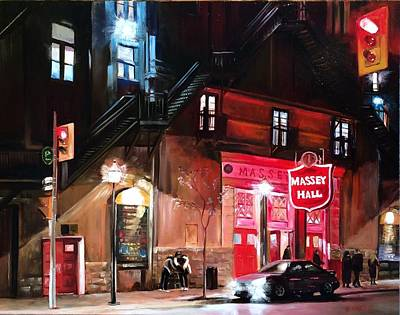 Massey Hall Wall Art - Painting - After The Show by Stuart Curtis