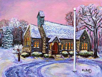 Waltham Painting - After The Snow On Christmas Eve by Rita Brown