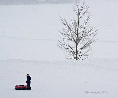Photograph - After The Snow Tube Ride by Ann Murphy