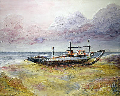Art Print featuring the painting After The Storm by Joey Agbayani
