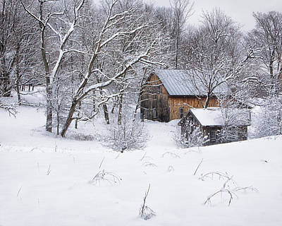 Photograph - Vermont Winter Scene by John Vose