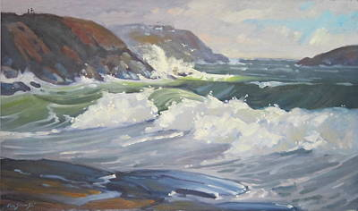 Massachusetts Coast Painting - After The Storm by Len Stomski