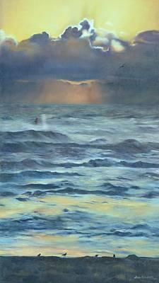 Sandbar Painting - After The Storm by Lori Brackett