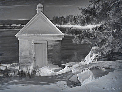 Digital Art - After The Storm  Pemaquid Lighthouse  Maine by Dave Higgins