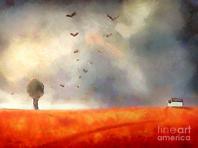 Orange Poppy Painting - After The Storm by Pixel Chimp