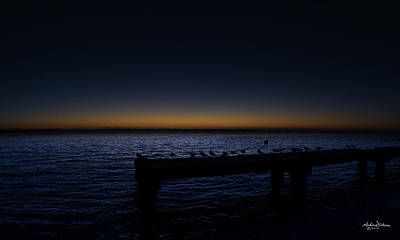 Busselton Photograph - After The Sun by Andrew Dickman