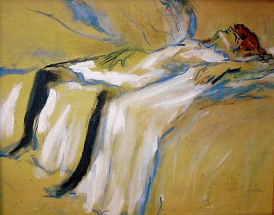 Painting - after Toulouse Lautrec by Jodie Marie Anne Richardson Traugott          aka jm-ART