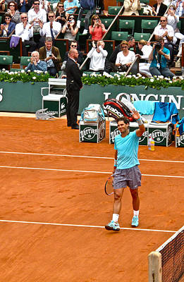 Rafa Photograph - Rafael Nadal After Victory by Alexi Hoeft