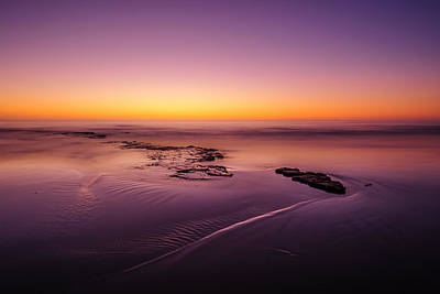 Cardiff State Beach Photograph - Afterglow by Alexander Kunz
